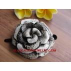 Hair Flower Leather Design