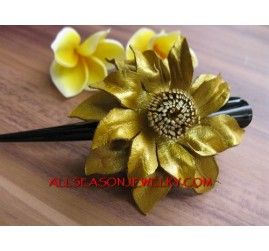 Carving Leather Hair Flower
