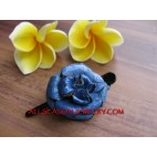 Flower Carved Leather Hair