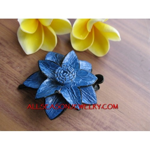 Leather Hair Slide Tropical
