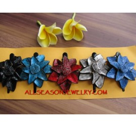 Mix Leather Hair Slide Pack