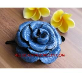 Rose Flower Leather Slide