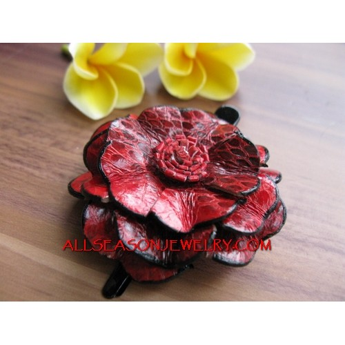 Short Hair Flower Fashion Pin