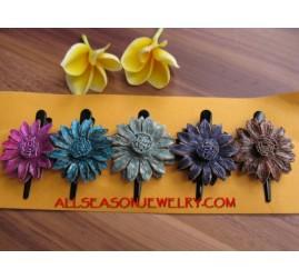 Tropical Leather Hair FLower