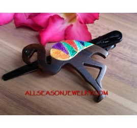 Bird Hand Carving Hair Slide