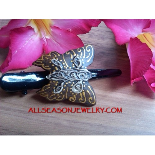 Butterfly Carved Hair Slide