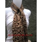 Bali Batik Silk Scarves Fashion Accessories