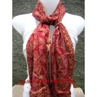 Hand Painted Silk Scarves Balinese Design