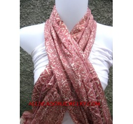 scarves painted silk Balinese Style