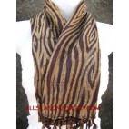 cottons scarves brown strip best design