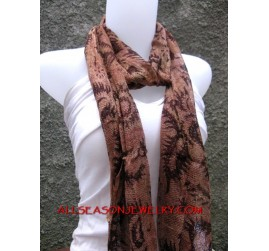 bali batik scarves for women