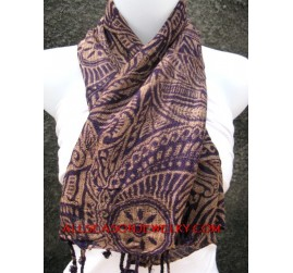 batik scarves printing by hand cotton material