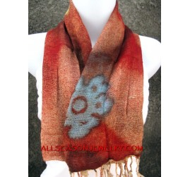 cottons scarf batik flower for ladies