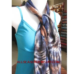 cotton scarf mix color tiger style