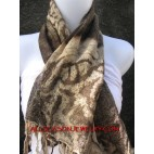cotton scarves batik tiger motif
