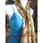 cotton scarves printed floral design