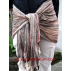 cotton woven scarves
