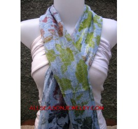 cottons scarf colored batik bali style