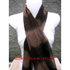 dark brown calm color fashion cotton scarves