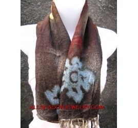 flower batik hand made design scarf shawl