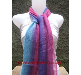 gradasi mix colors cotton scarves fashion accessories