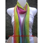 rainbow color fashion cotton scarves made in bali