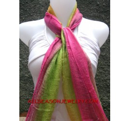 cotton scarf rainbow color mix fashion handmade