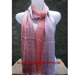 multiple striped mesh color cotton scarf shawl bali