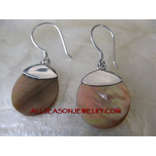 Silver Earrings Shells