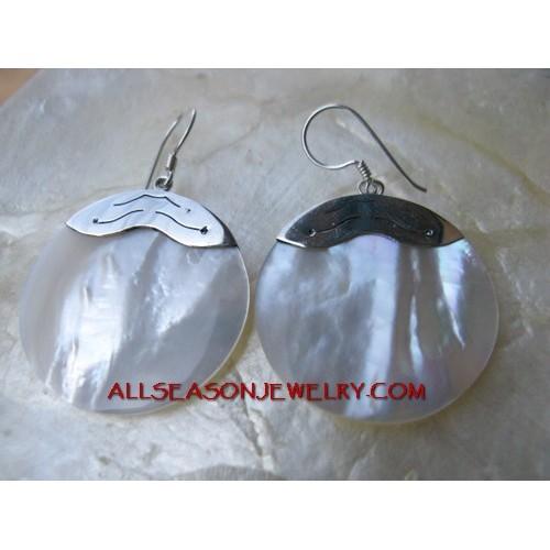 925 Silver Earrings Shells