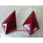 Silver Earring with Red Coral