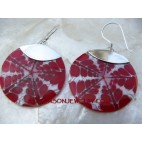 Resin Shells Silver Earrings