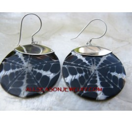Sterling Silver Earring Resin