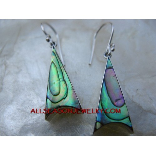 Abalone Shells Earrings Silver