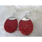 Organic Red Coral Earring