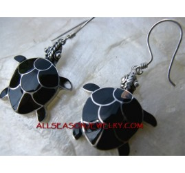 Turtle Shell Earring silver