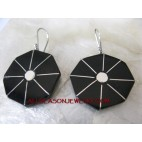 Earring Silver 925 Wood