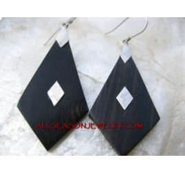Silver Earring Black Woods