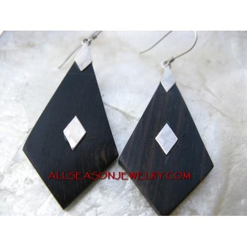 Silver Earring Black Woods