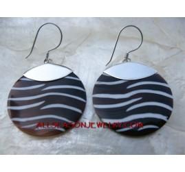 Zebra Shells Earring Silver