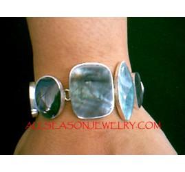 925 Silver Bracelets Shells
