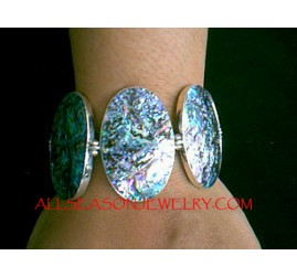 Abalone shell Bracelet Silver