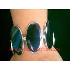 Black Shells Silver Bracelets