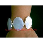Mother Pearls Bracelets Silver