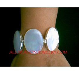 Mother Pearls Bracelets Silver