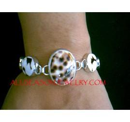 Tiger Shells Silver Bracelets