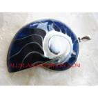 Bule Nautilus Shell Pendant