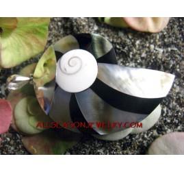 Silver Pendant Nautilus Shells