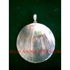 Natural Shells Silver Pendant