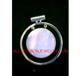 Pendant Necklace Silver Shell